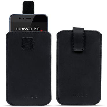 Handytasche für Huawei P10 Leder Pull Tab Sleeve Hülle Cover Schwarz Nauc Curley – Bild 1