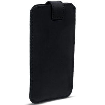 Tasche Leder für Samsung Galaxy J3 2017 Pull Tab Sleeve Hülle Cover Schwarz Nauc – Bild 6