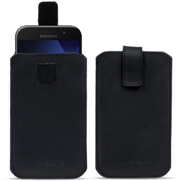 Samsung Galaxy S8 Tasche Leder Pull Tab Sleeve Hülle Cover Schwarz Schutzhülle – Bild 1