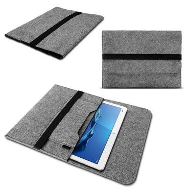 Huawei MediaPad T3 10 Tasche Grau Sleeve Hülle Tablet Filz Cover Schutzhülle Case – Bild 7