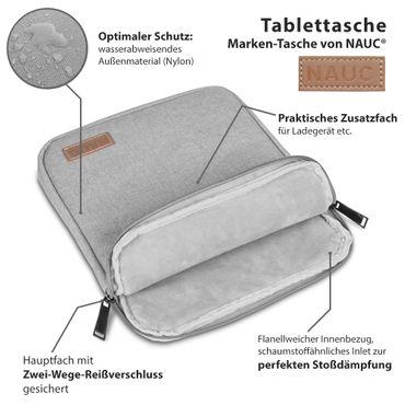 TrekStor Primetab P10 Tablet Hülle Tasche Schutzhülle Grau Sleeve Cover Case Bag – Bild 9
