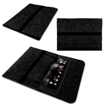 Archos 101 Platinum 3G Tablet Tasche dunkel Grau Sleeve Hülle Filz Cover Schutzhülle Case – Bild 1