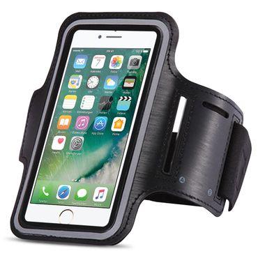 Apple iPhone 7 Jogging Tasche Schwarz Hülle Sportarmband Fitnesstasche Lauf Case – Bild 2