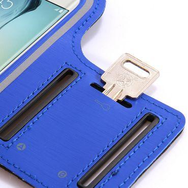 Sportarmband Jogging Tasche Samsung Galaxy J3 2017 Schwarz Hülle Fitness Case – Bild 3