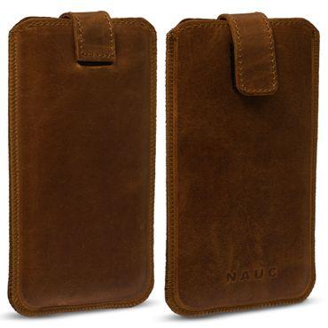 Leder Tasche für Apple iPhone Serie Pull Tab Sleeve Hülle Schutzhülle Case Cover – Bild 18
