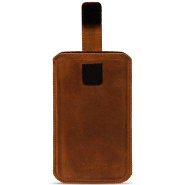 Leder Tasche für Apple iPhone Serie Pull Tab Sleeve Hülle Schutzhülle Case Cover – Bild 10