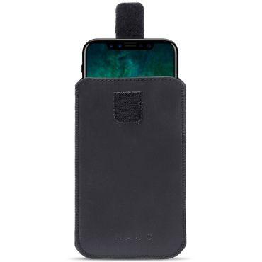 Leder Tasche für Apple iPhone Serie Pull Tab Sleeve Hülle Schutzhülle Case Cover – Bild 2