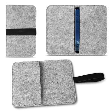 Filz Tasche Samsung Galaxy S8 / S8 Plus Cover Hülle Case Handy Flip Schutzhülle – Bild 2