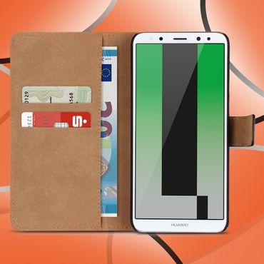Echte Ledertasche für Huawei Mate 10 Lite Handyhülle Smartphone Cover Flip Cover – Bild 1