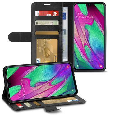 Handy Hülle Schutzhülle Smartphone Klapphülle Tasche Schwarz Cover Schutz Case – Bild 19