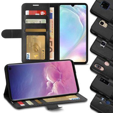 Schutzhülle Smartphone Klapphülle Tasche Schwarz Handy Hülle Flip Cover Case Bag