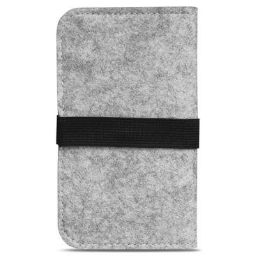 Filz Handytasche für Huawei Mate 10 Lite Smartphone Cover Case Schutzhülle Grau – Bild 4