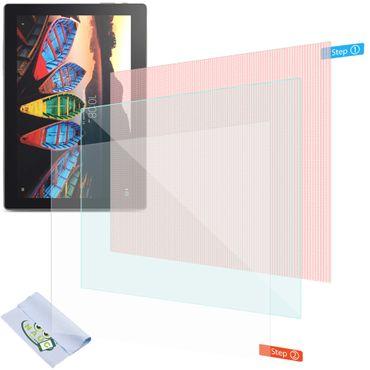 2x Displayschutzfolie Lenovo Tab10 TB X103F Tablet Schutzfolie Uni Displayfolie – Bild 1