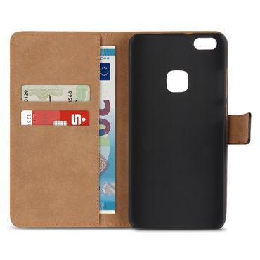 Handy Hülle Echt Leder für Huawei P10 Lite Flip Cover Schutz Tasche Klapp Etui  – Bild 6