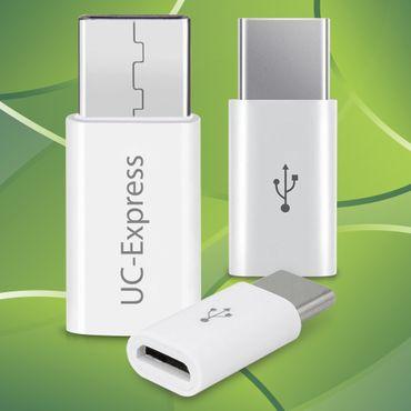 3x USB-C Adapter Smartphone Tablet Handy Micro USB auf USB C 3.1 Stecker Buchse – Bild 1