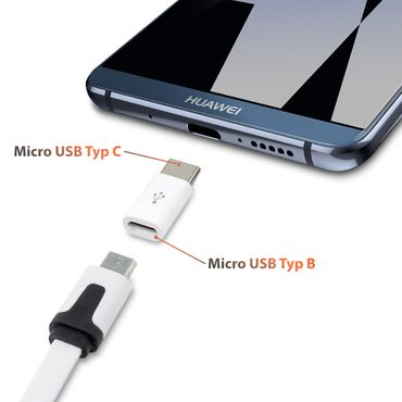 2x Adapter USB Micro USB C Typ-C Stecker wandelt USB 2.0 Typ B zu USB 3.1 Typ C – Bild 7