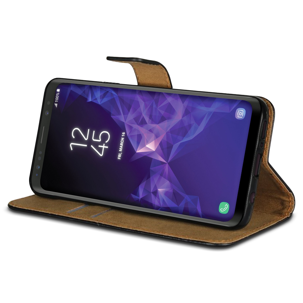 handy h lle samsung galaxy s9 plus leder tasche smartphone. Black Bedroom Furniture Sets. Home Design Ideas