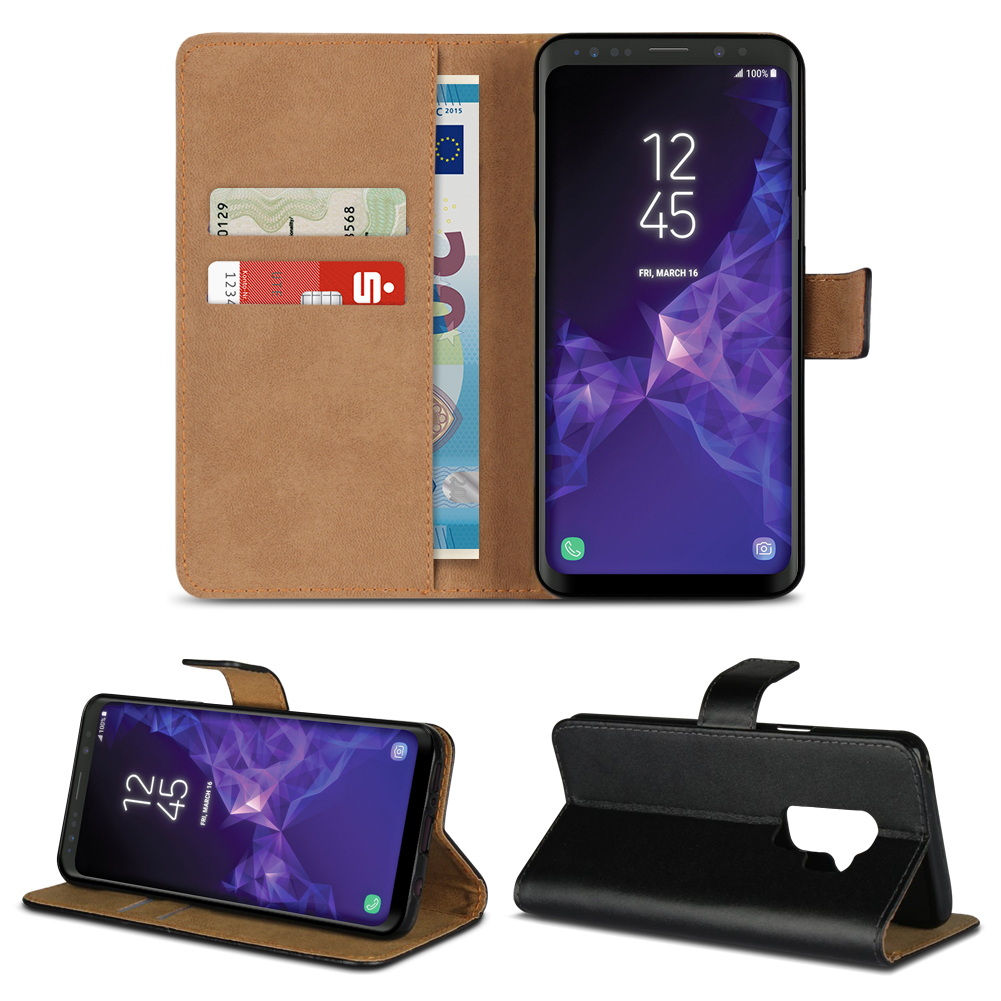handy tasche f r samsung galaxy s9 plus leder h lle flip. Black Bedroom Furniture Sets. Home Design Ideas