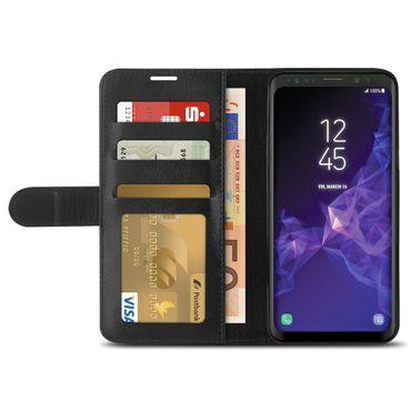 Schutzhülle für Samsung Galaxy S9 Tasche Schwarz Handy Hülle Cover Flip Cover  – Bild 6