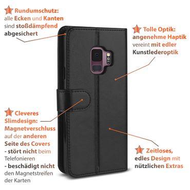 Schutzhülle Samsung Galaxy S9 S8 Plus J6 A6 Note 9 Tasche Handy Hülle Flip Cover – Bild 5