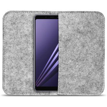 Handytasche Filz Samsung Galaxy A8 Duos 2018 Smartphone Cover Case Schutzhülle  – Bild 15