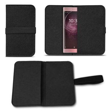 Filz Handytasche Sony Xperia XA2 Smartphone Cover Case Sleeve Schutzhülle Etui  – Bild 2