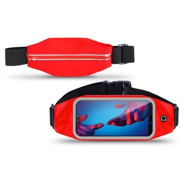 Handy Tasche Huawei P20 Bauchtasche Lauftasche Jogging Hülle Fitness Universal – Bild 8