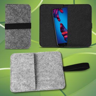 Filz Tasche Huawei P20 Lite Hülle Schutz Cover Case Handy Filztasche Schutzhülle – Bild 1