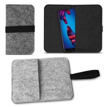 Filz Handy Tasche Huawei P20 Lite Smartphone Cover Sleeve Case Schutzhülle Hülle – Bild 1