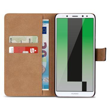 Handy Hülle Echt Leder Huawei P20 / Lite Pro / Mate 10 20 Flip Cover Tasche Book – Bild 25