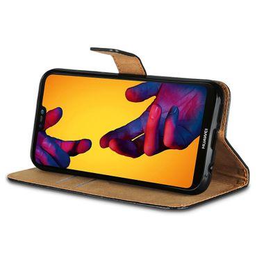 Handy Hülle Echt Leder Huawei P20 / Lite Pro / Mate 10 20 Flip Cover Tasche Book – Bild 2