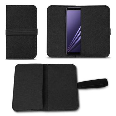 Filz Hülle für Samsung Galaxy A6 2018 Schutzhülle Tasche Schutz Cover Case Handy – Bild 3
