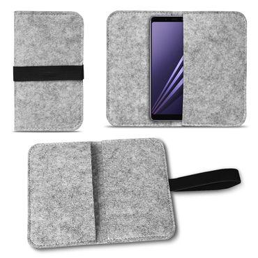 Handy Tasche Filz Samsung Galaxy A6 Plus 2018 Smartphone Cover Case Schutzhülle – Bild 15