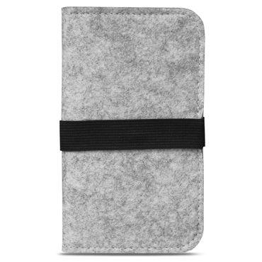 Handy Tasche Filz Samsung Galaxy A6 Plus 2018 Smartphone Cover Case Schutzhülle – Bild 17