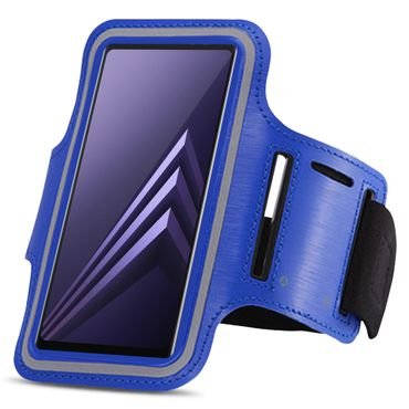 Sportarmband Tasche Samsung Galaxy A6 Plus 2018 Jogging Armcase Fitness Hülle  – Bild 19