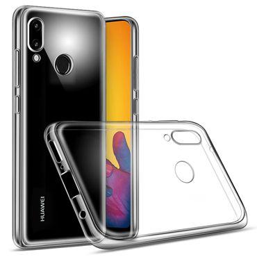 Tasche Huawei Smartphone Hülle Silikon Case Bumper Schale transparent Ultra Slim – Bild 4