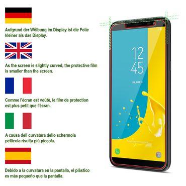 2x Schutzglas Samsung Galaxy J6 2018 Displayglas Panzerfolie Echt Glas Folie 9H – Bild 8