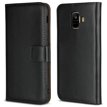 Schutzhülle Samsung Galaxy A6 2018 Leder Tasche Klapphülle Flip Cover Hülle Case – Bild 6