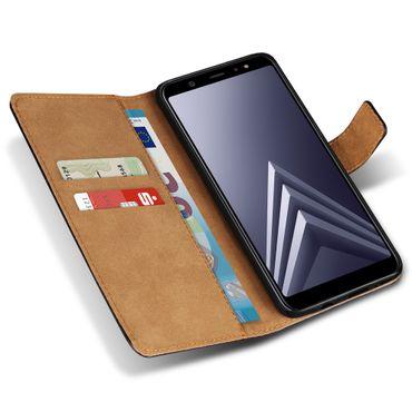 Schutzhülle Samsung Galaxy A6 Plus 2018 Leder Tasche Klapphülle Cover Hülle Case – Bild 4
