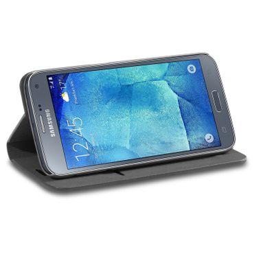 Klapphülle Samsung Galaxy S5 / Neo Tasche Flip Case Schutzhülle Handy Book Hülle – Bild 5
