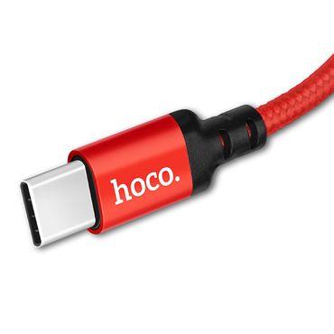 Datenkabel Schnell Ladekabel Nylon Daten Lade Kabel Rot USB Typ C für Samsung 1m – Bild 5