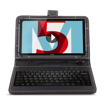 Tastatur Tasche Huawei MediaPad T5 10.1 Keyboard USB Hülle QWERTZ Schutzhülle – Bild 2