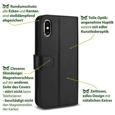 Klapphülle für Apple iPhone Xs Max Tasche Hülle Book Cover Flip Case Schutzhülle – Bild 9