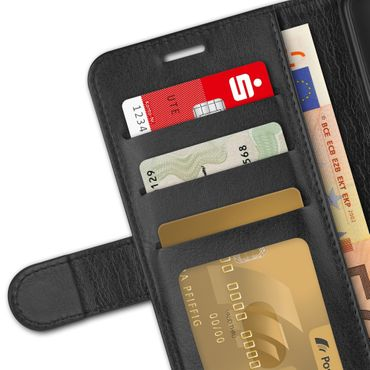 Klapphülle Apple iPhone Xs Tasche Handy Hülle Book Cover Flip Case Schutzhülle – Bild 7