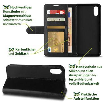 Klapphülle Apple iPhone Xs Tasche Handy Hülle Book Cover Flip Case Schutzhülle – Bild 8