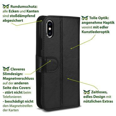 Klapphülle Apple iPhone Xr Xs Max Xs X Tasche Handy Hülle Flip Case Schutzhülle – Bild 25