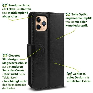 Klapphülle Apple iPhone 11 Pro Max 7 8 Plus X Xs Max Xr Tasche Hülle Flip Case – Bild 10