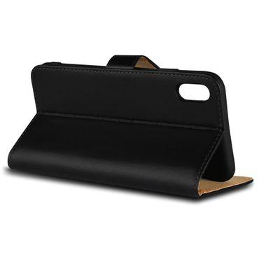 Klapphülle Apple iPhone Xs Leder Tasche Book Cover Handy Hülle Flip Slim Case – Bild 5