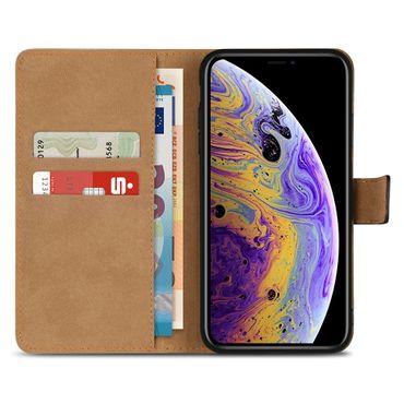 Klapphülle für Apple iPhone X Leder Tasche Book Cover Handy Hülle Flip Slim Case – Bild 3