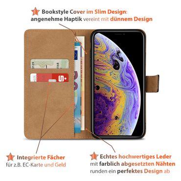 Klapphülle für Apple iPhone X Leder Tasche Book Cover Handy Hülle Flip Slim Case – Bild 10